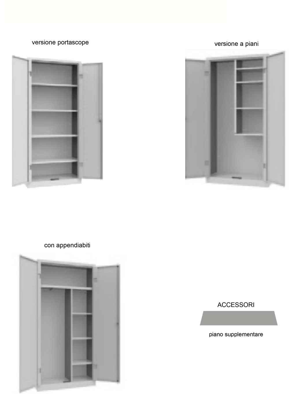Armadio ripostiglio scaffalature metalliche soppalchi e for Piani di casa in metallo