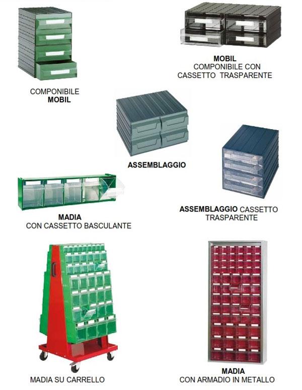 Cassettiere In Plastica Componibili.In Plastica Scaffalature Metalliche Soppalchi E Cantilever
